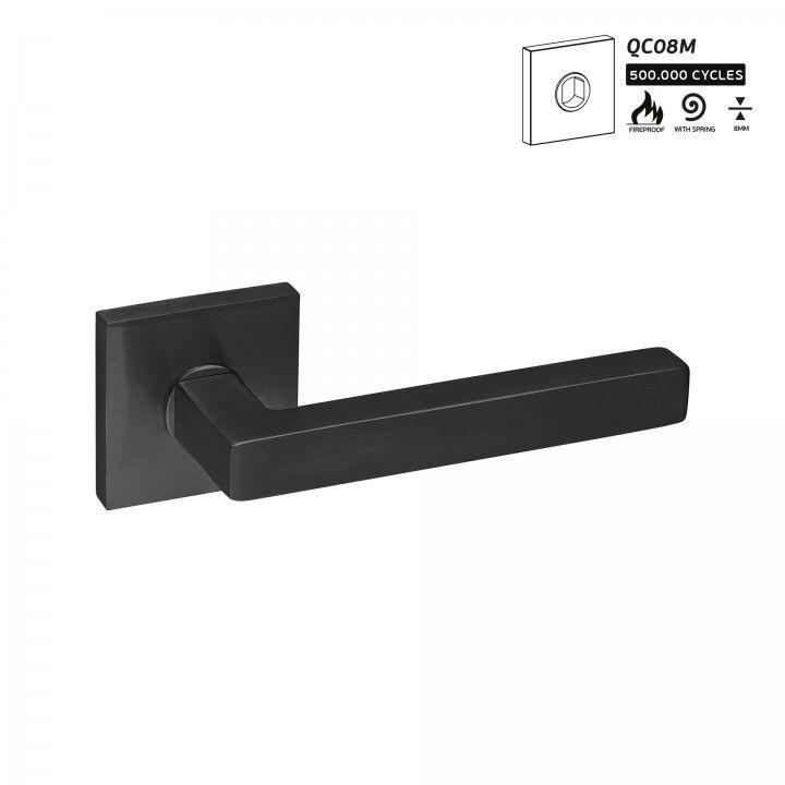 """Puxador de porta """"Quadro"""" -16x16 - Titanium Black"""