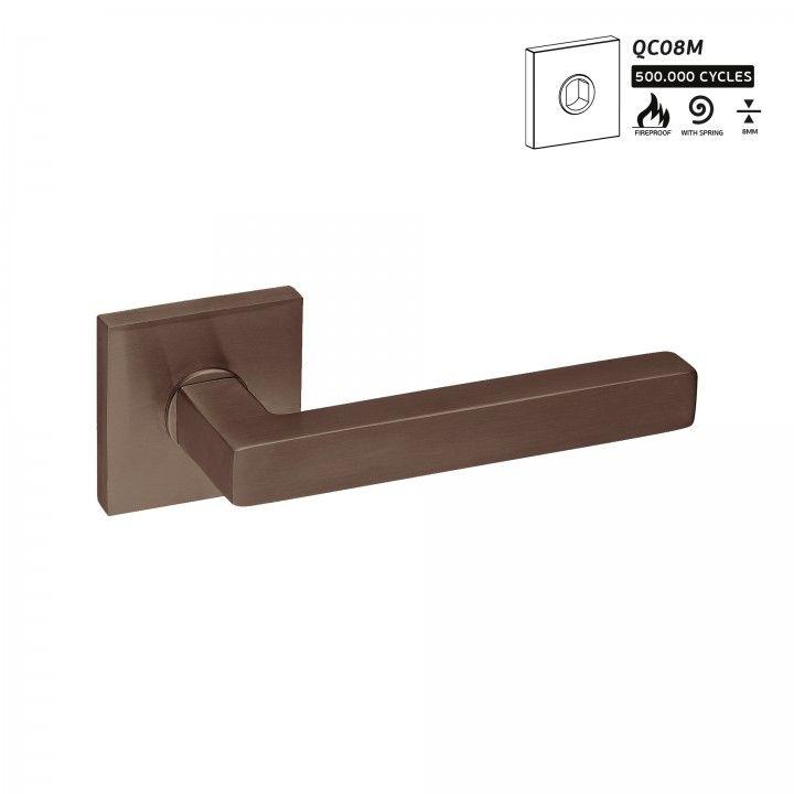Manilla de puerta Geometric Quadro - Titanium Chocolate