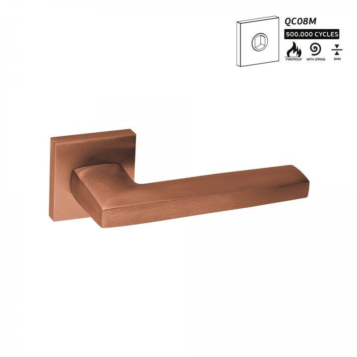 """Puxador de porta """"Metric"""" - Titanium Copper"""