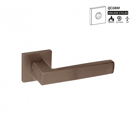 Lever handle FUSION - TITANIUM CHOCOLATE