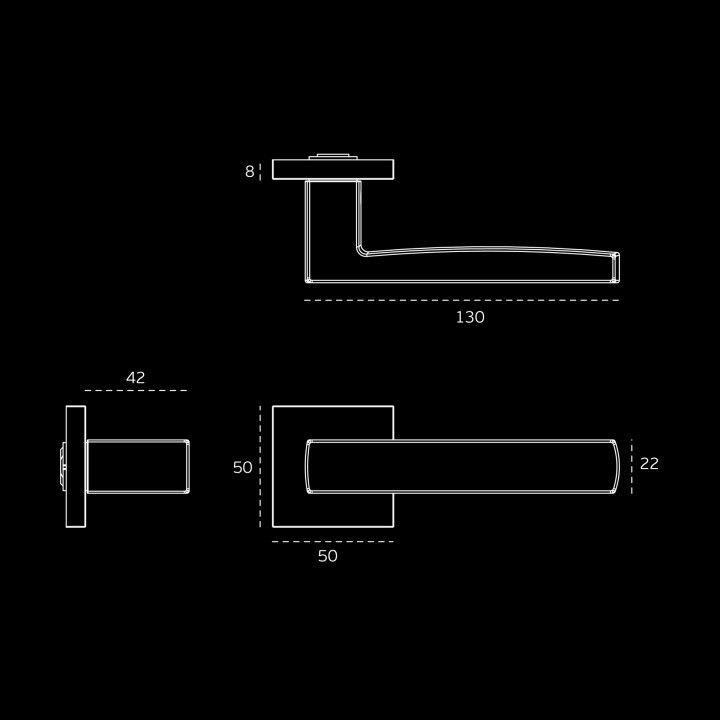 Puxador de porta FUSION - TITANIUM BLACK
