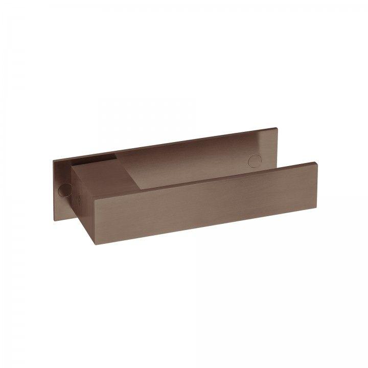 Lever handle Square with plate - Titanium Chocolate