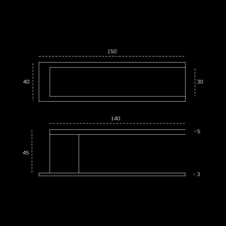 Lever handle Square with plate - Titanium Black