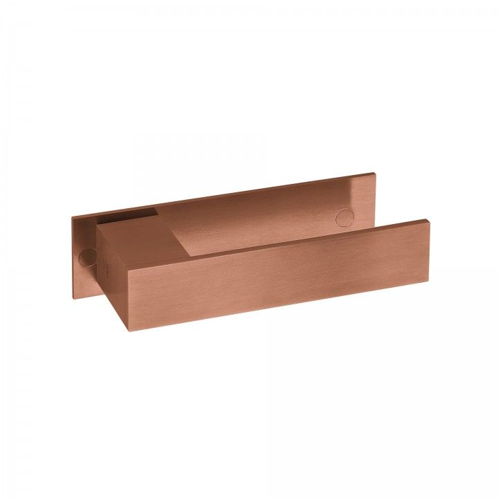 Manilla de puerta Square con placa - Titanium Copper