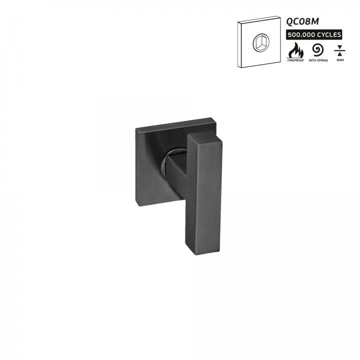 Manilla de puerta Quadro -  Titanium Black