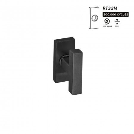 Lever handle Quadro - Titanium Black