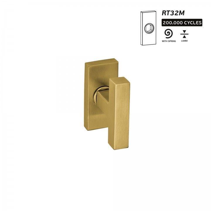 Puxador de porta Geometric Quadro - Titanium Gold