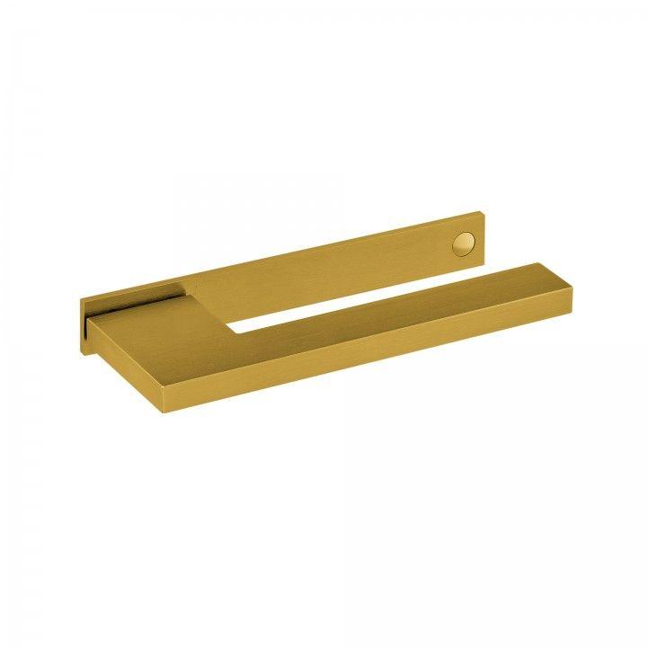 Lever handle with plate SLIM - Titanium Gold