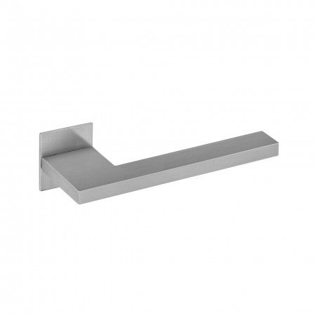 Lever handle with square plate - SLIM