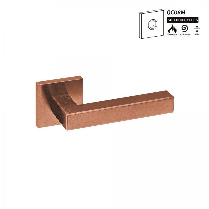 Manilla de puerta Geometric Quadro - Titanium Copper