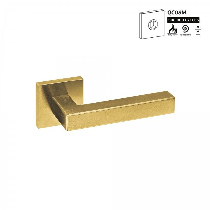 Lever handle with metallic rose QC08M - Titanium Gold