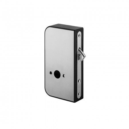 Lock for sliding door to use with snib indicator