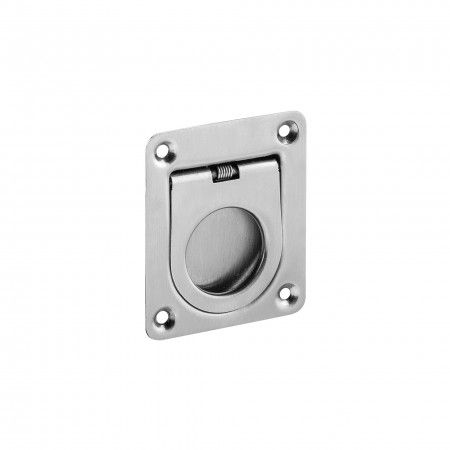 Concealed flush handle with spring