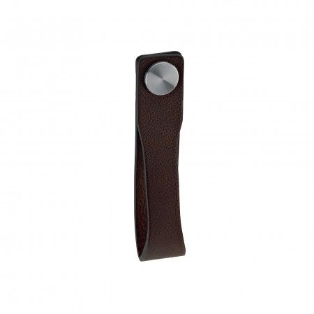 Door knob Skin - Brown natural leather
