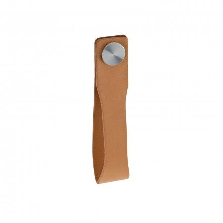 Door knob Skin - Camel natural leather