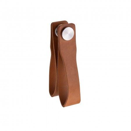 Door knob Skin - Camel natural leather