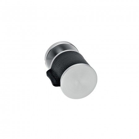 Door knob Skin - Black natural leather