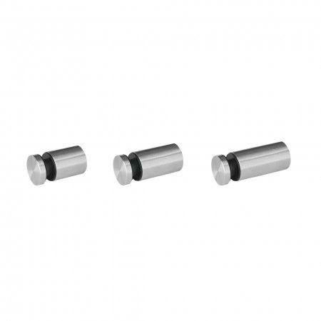 Glass support wall fixing - Ø25mm - glass 8-12mm