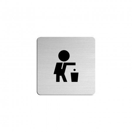 "RESTAURANT pictogram in vinyl applied in stainless steel - 75 x 75mm ""Evol"""