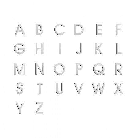 Uppercase letter with 100mm - concealed fixing through strong adhesive – 100mm