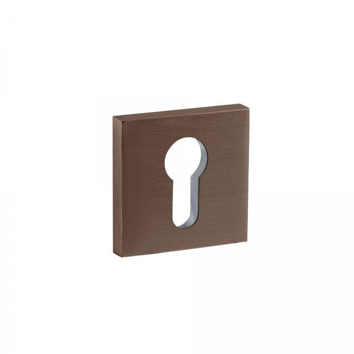 Bocallave para bombillo europeo - 50x50mm - Titanium Chocolate