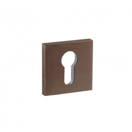 European cylinder key hole - 50x50mm - Titanium Chocolate
