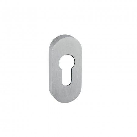 European cylinder key hole with metallic base - 72 x 32mm