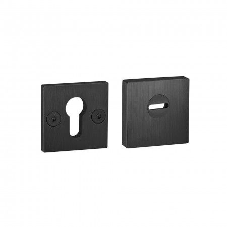 Adjustable and solid security protection rose for european cylinder - Titanium Black