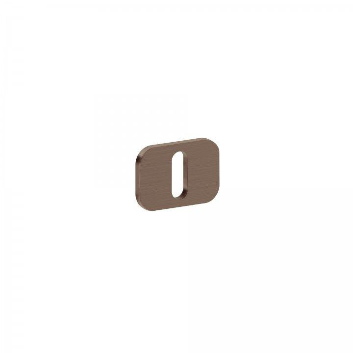 Entrada de chave metálica para chave normal 'OSAKA' - Titanium Chocolate