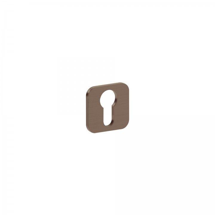 Entrada de chave metálica para cilindro europeu 'OSAKA' - Titanium Chocolate