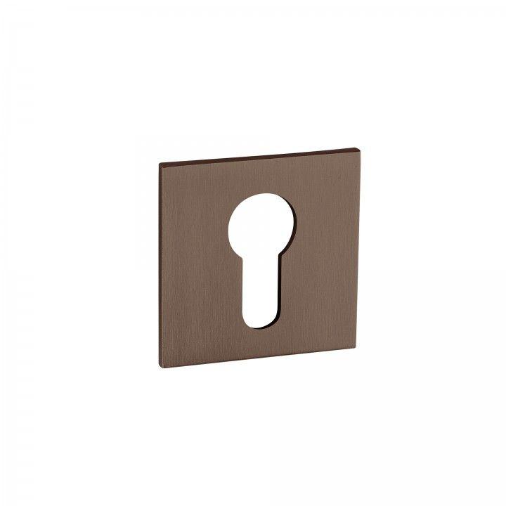 Bocallave metálica para bombillo europeo Less is more - Titanium Chocolate