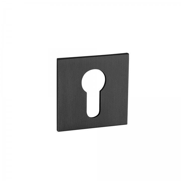 "Entrada de chave metálica para cilindro europeu ""Less is more"" - ""Titanium Black"""