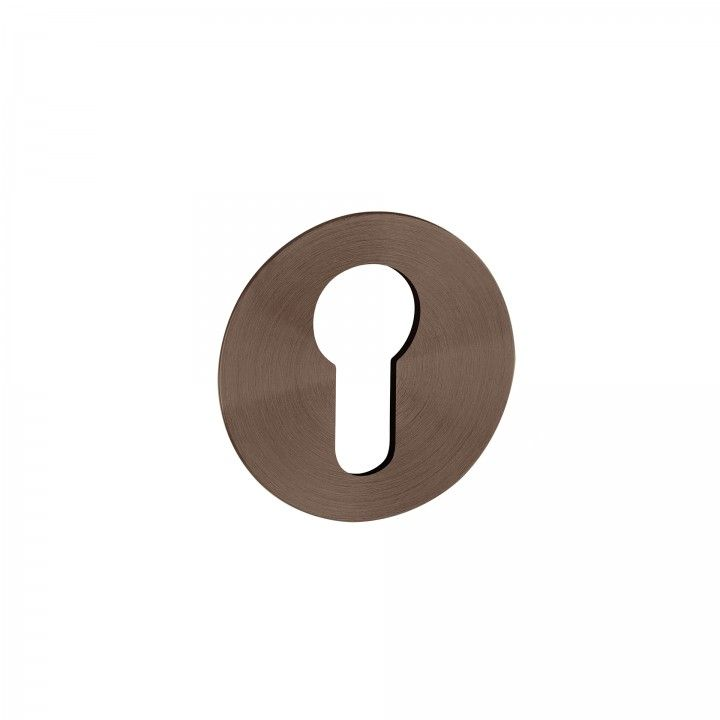 Metallic key hole for european cylinder Less is more - Titanium Chocolate