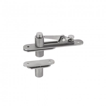 Flush hinge for double action and single action doors - 200kg