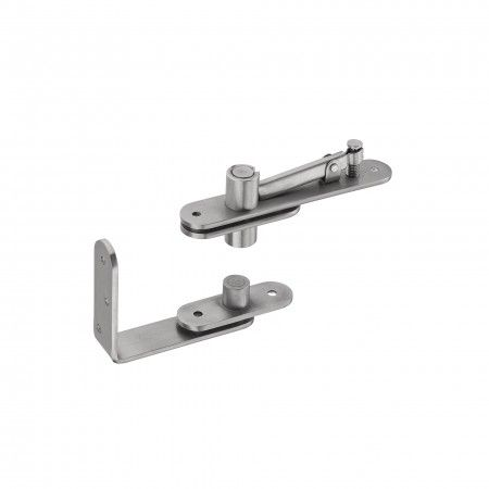 Flush hinge for double action and single action doors - 80kg