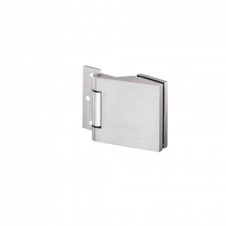 Aluminium hinge for glass doors with 8 to 12 mm thickness