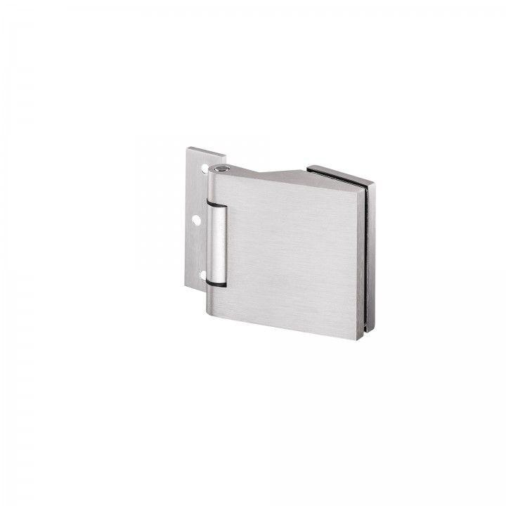 Dobradiça em alumínio para portas em vidro de 8 a 12 mm