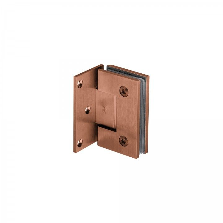 Wall to glass hinge with stop Titanium Copper