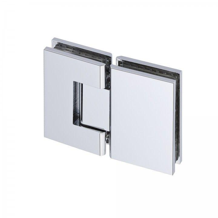 Dobradiça vidro-vidro polida, com paragem - ECO