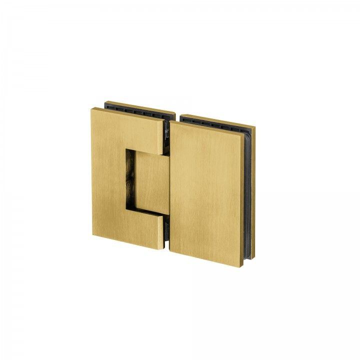 Dobradiça vidro-vidro, com paragem -Titanium Gold