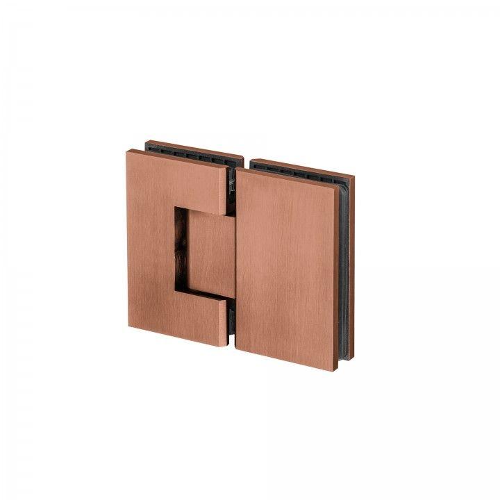 Dobradiça vidro-vidro, com paragem -Titanium Copper