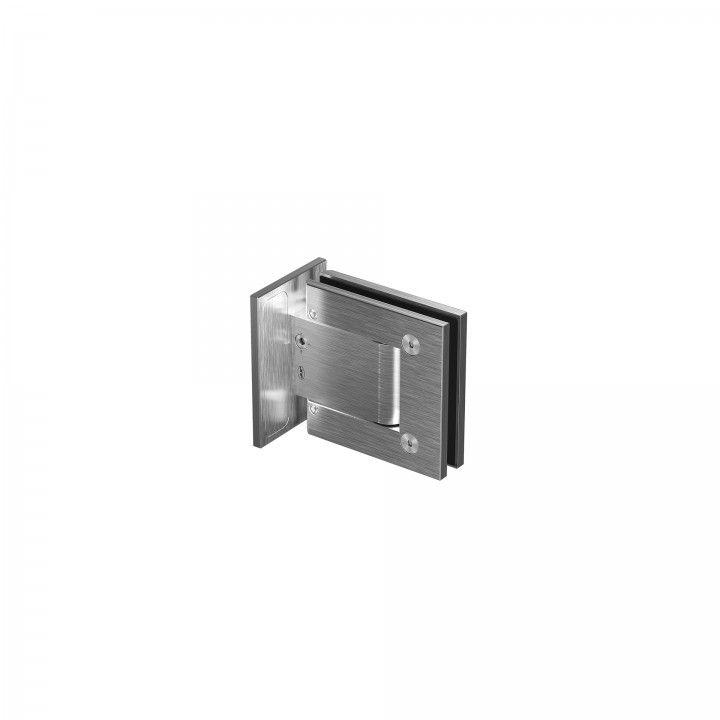 Wall to glass hinge