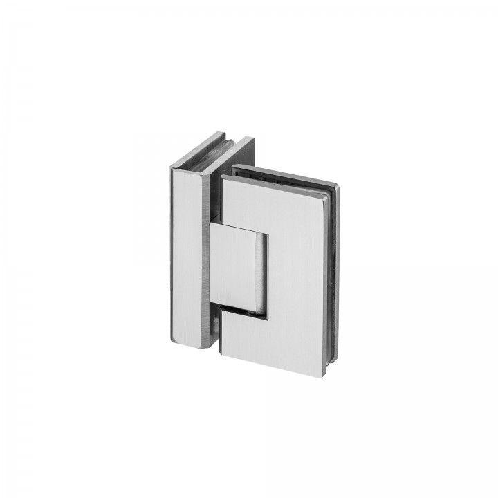 Dobradiça vidro-vidro, com paragem 90º - ECO