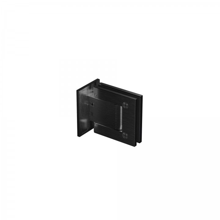 Wall to glass hinge - Titanium Black