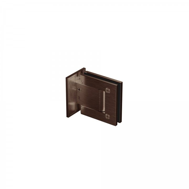 Wall to glass hinge - Titanium Chocolate