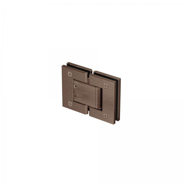 Dobradiça vidro-vidro - Titanium Chocolate