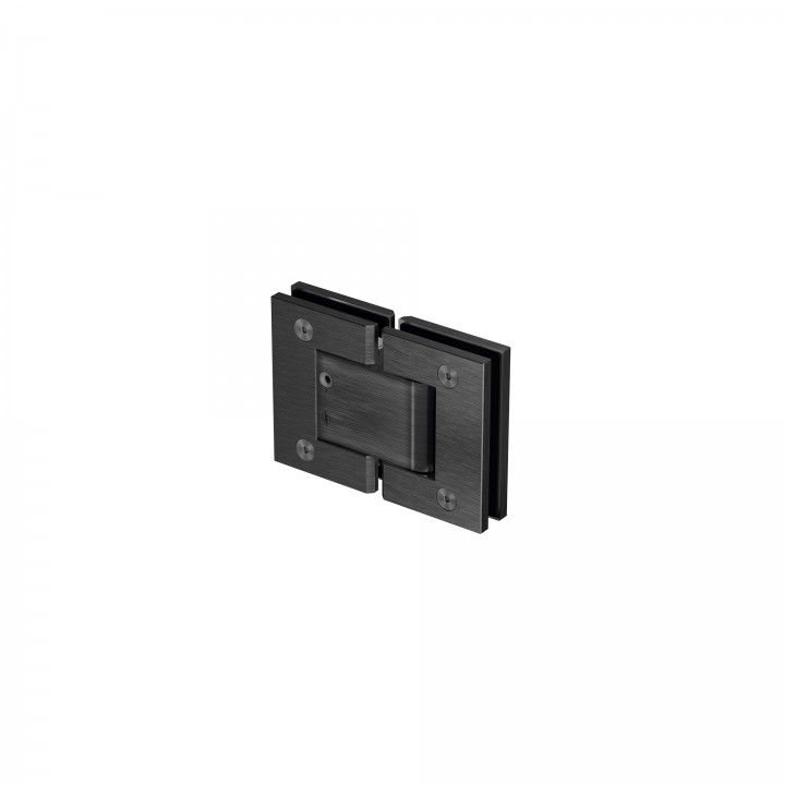 Glass to glass hinge - Black