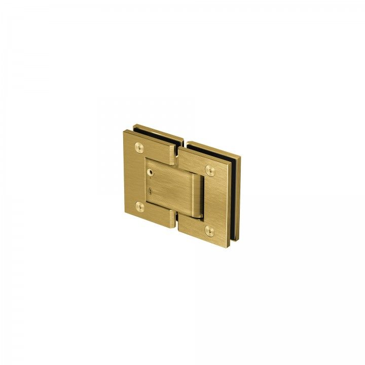 Glass to glass hinge - Titanium Gold