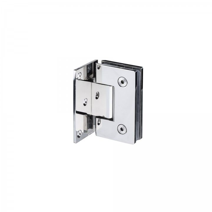 Wall to glass hinge with stop Polished