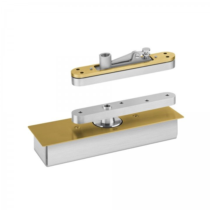 Flush hinge for double action or rebated doors - 500kg - Tit Gold